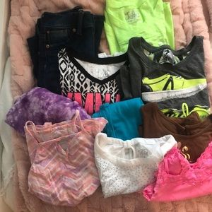 Girls justice size 8&10 clothes